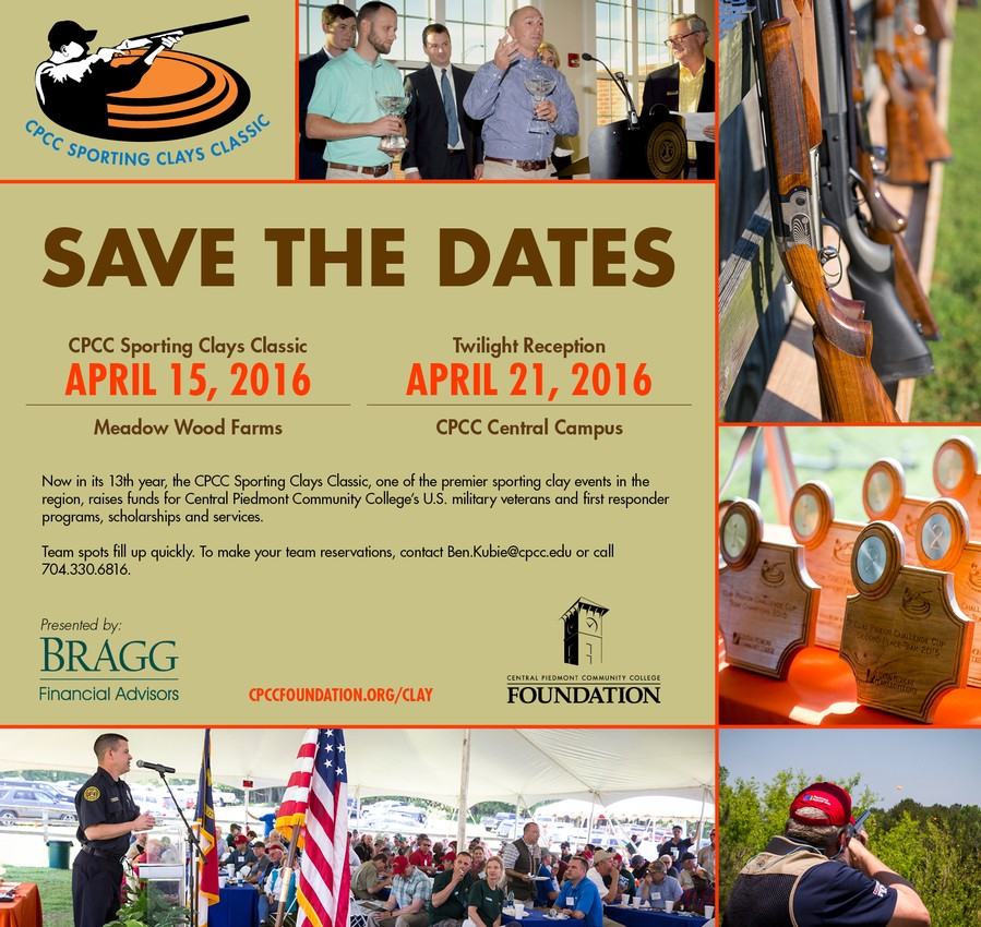 Sporting Clays Classic Save the Date April 15, 2016